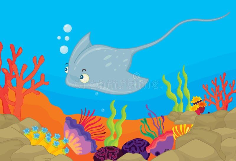 Onderwater scène royalty-vrije illustratie