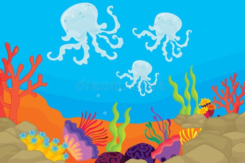Onderwater scène vector illustratie