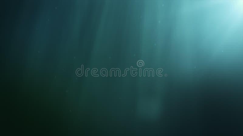 Onderwater scène met stralen van licht royalty-vrije stock foto