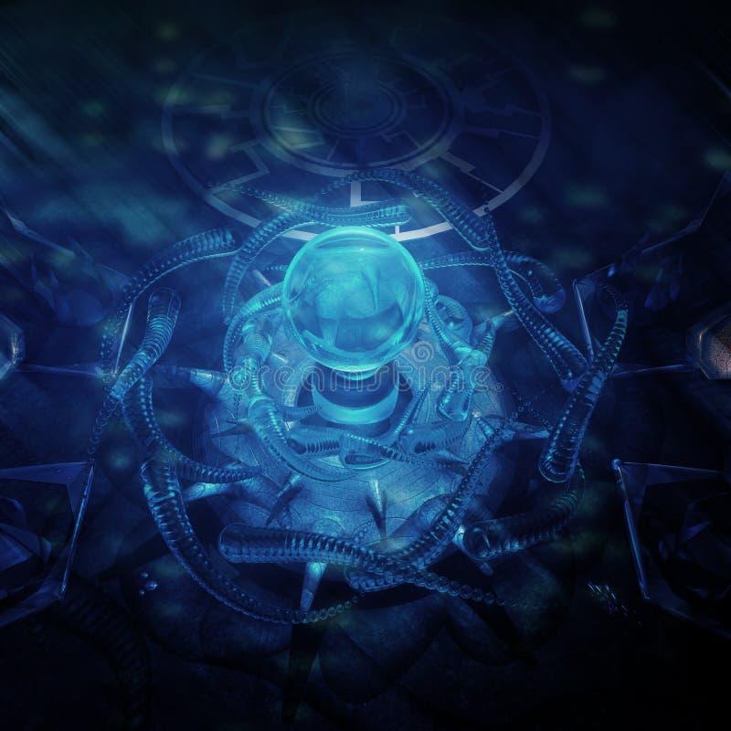 Onderwater Stad royalty-vrije illustratie