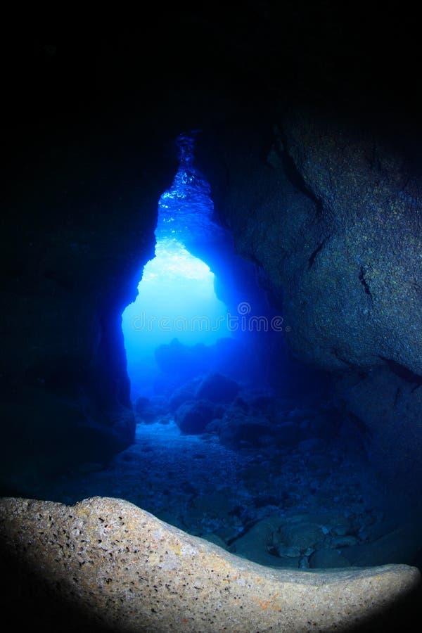 Onderwaterhol stock foto's