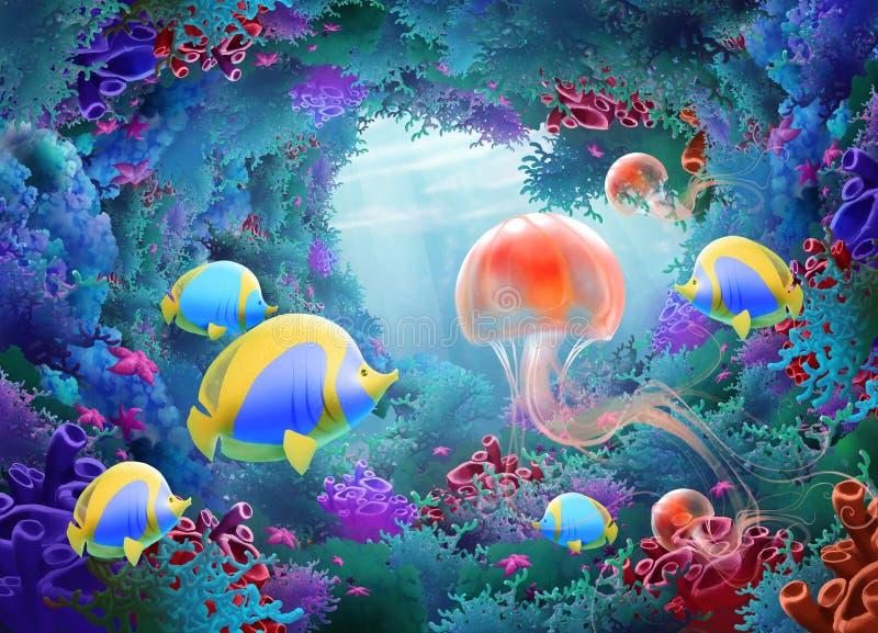 Onderwaterwereld stock illustratie