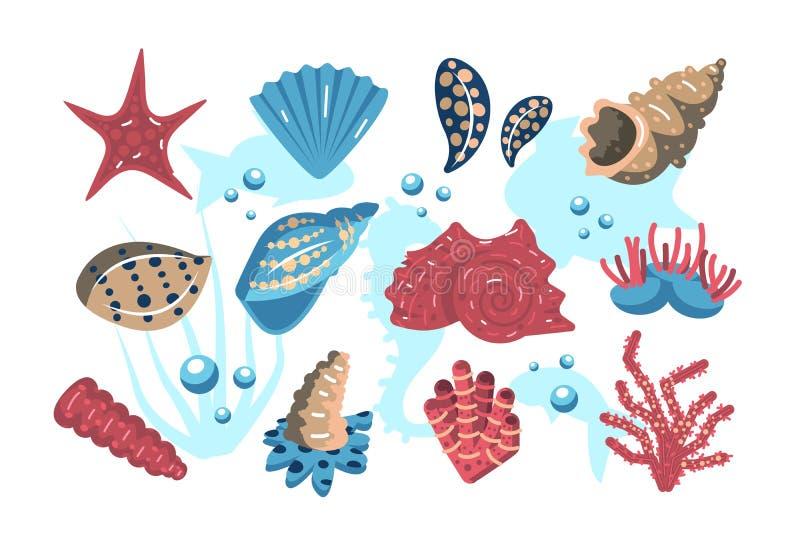 onderwaterwereldreeks stock illustratie