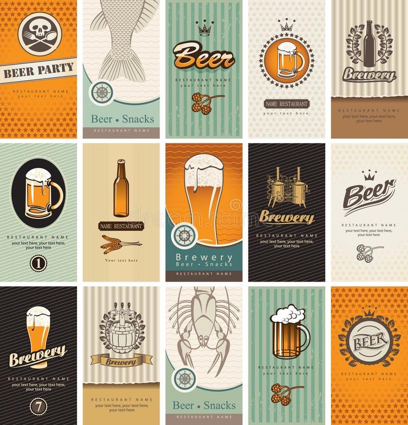 Onderwerp van bier royalty-vrije illustratie