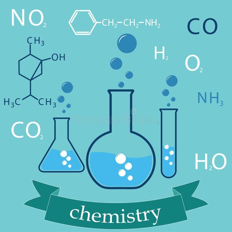 Onderwerp van chemie stock illustratie