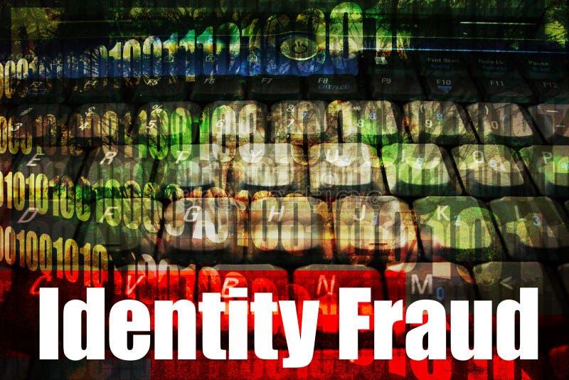 Onderwerp van de Veiligheid van het Web van de Fraude van de identiteit het Hete Online royalty-vrije illustratie