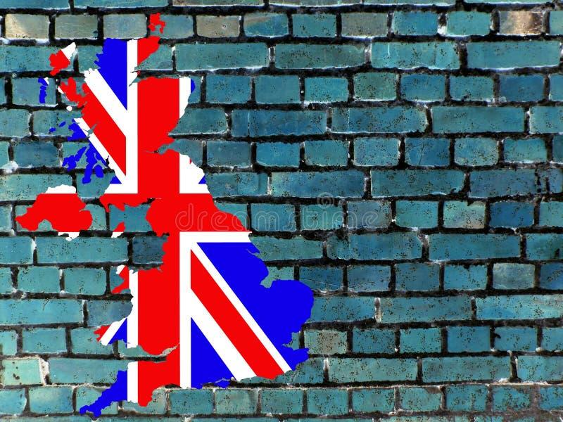 Onderwerpen aan het Verenigd Koninkrijk (achtergrond) royalty-vrije illustratie