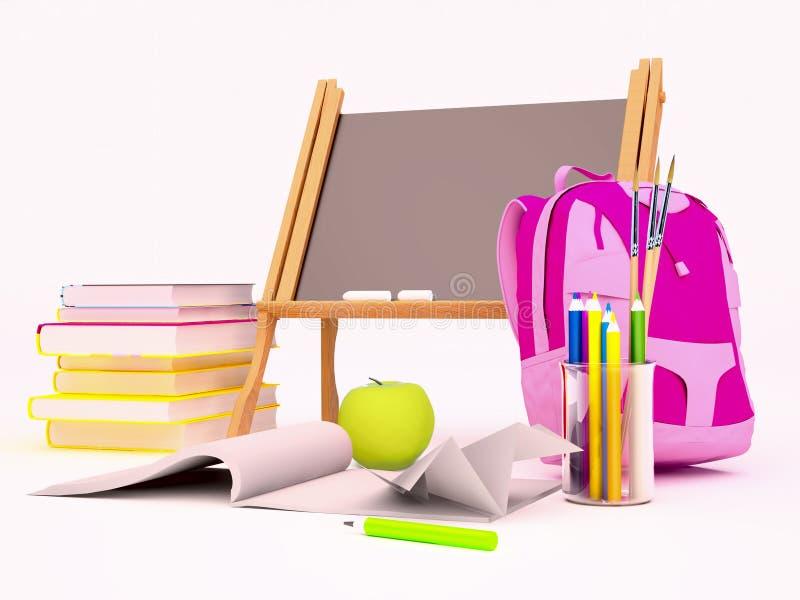 Onderwijs achtergrondconcept royalty-vrije illustratie