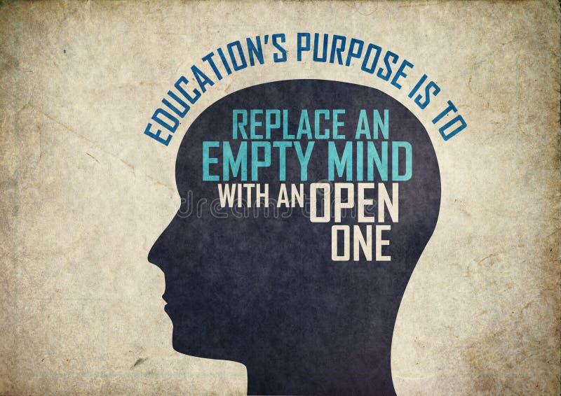 Onderwijs creatieve mening vector illustratie