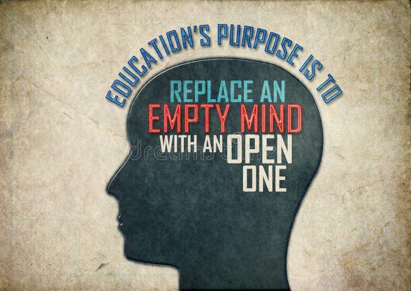 Onderwijs creatieve mening stock illustratie