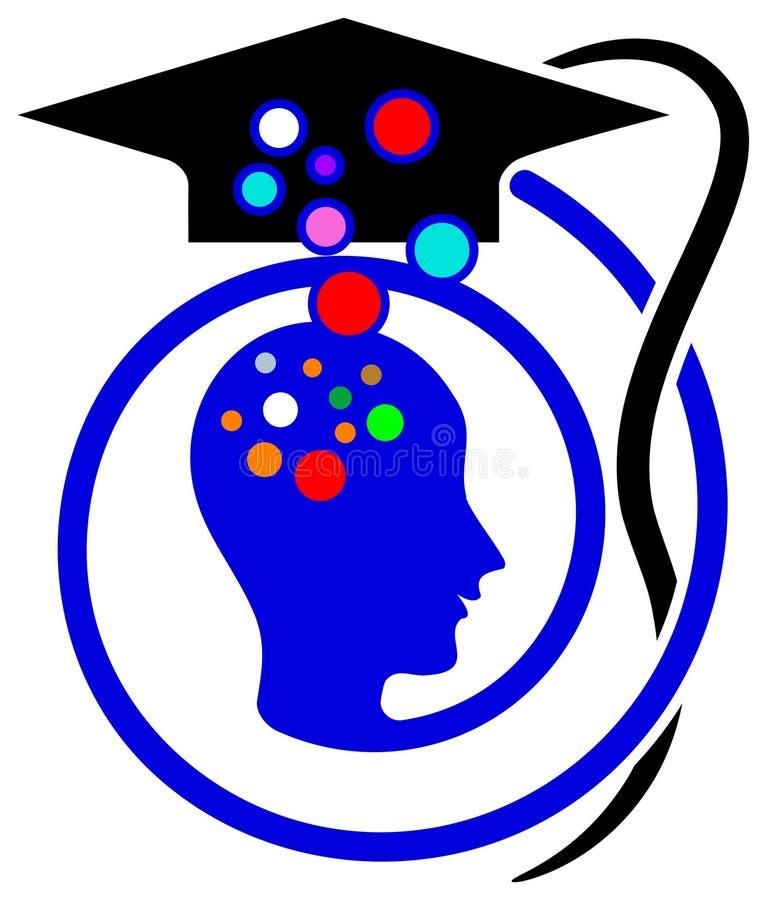 Onderwijs embleem stock illustratie