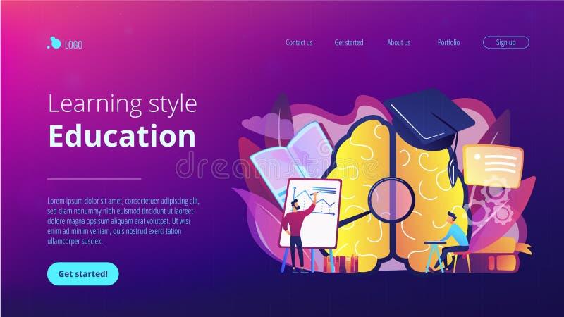 Onderwijs en het leren stijl landende pagina vector illustratie