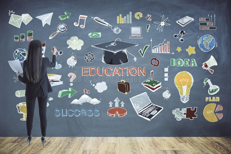 onderwijs en ideeconcept stock afbeeldingen