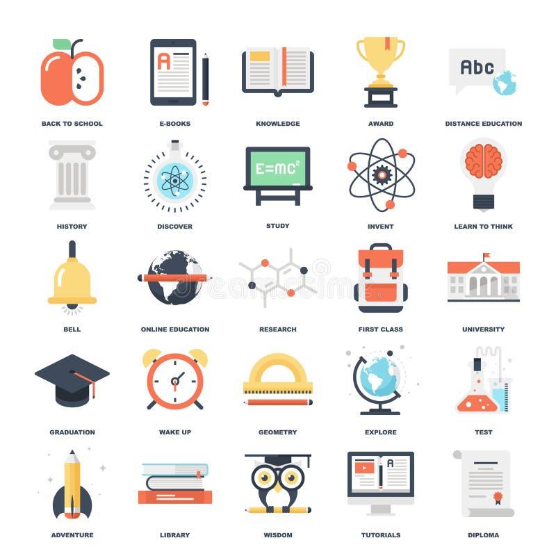 Onderwijs en kennis stock illustratie