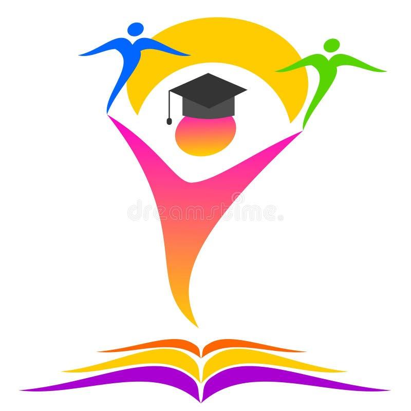 Onderwijs en onderwijsembleem stock illustratie