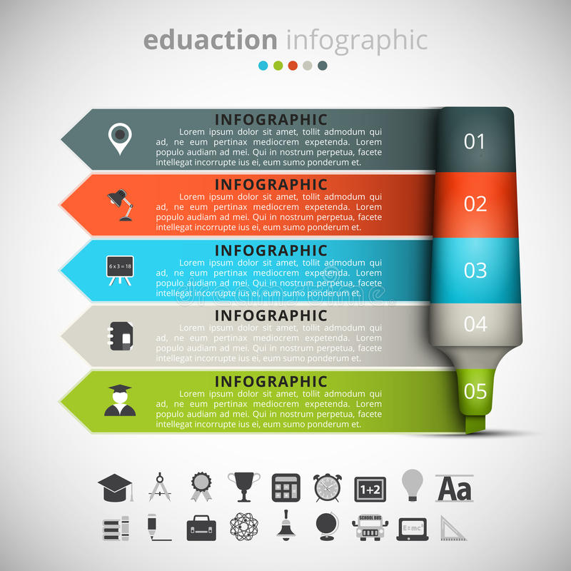 Onderwijs Infographic vector illustratie