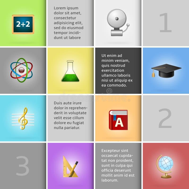 Onderwijs infographic elementen royalty-vrije illustratie