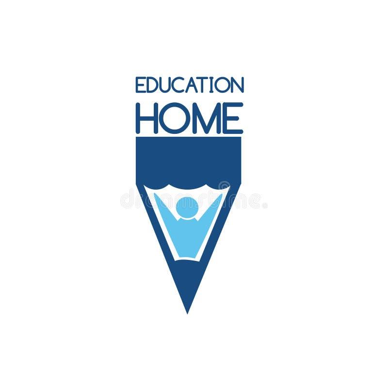 Onderwijs Logo Vector Art Embleemmalplaatje voor uw zaken stock illustratie