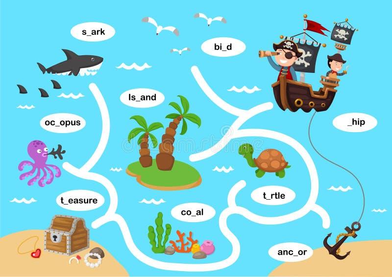 Onderwijs Maze Game stock illustratie