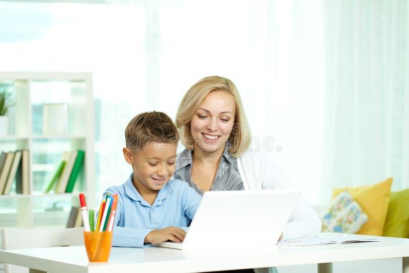 Onderwijs online royalty-vrije stock foto