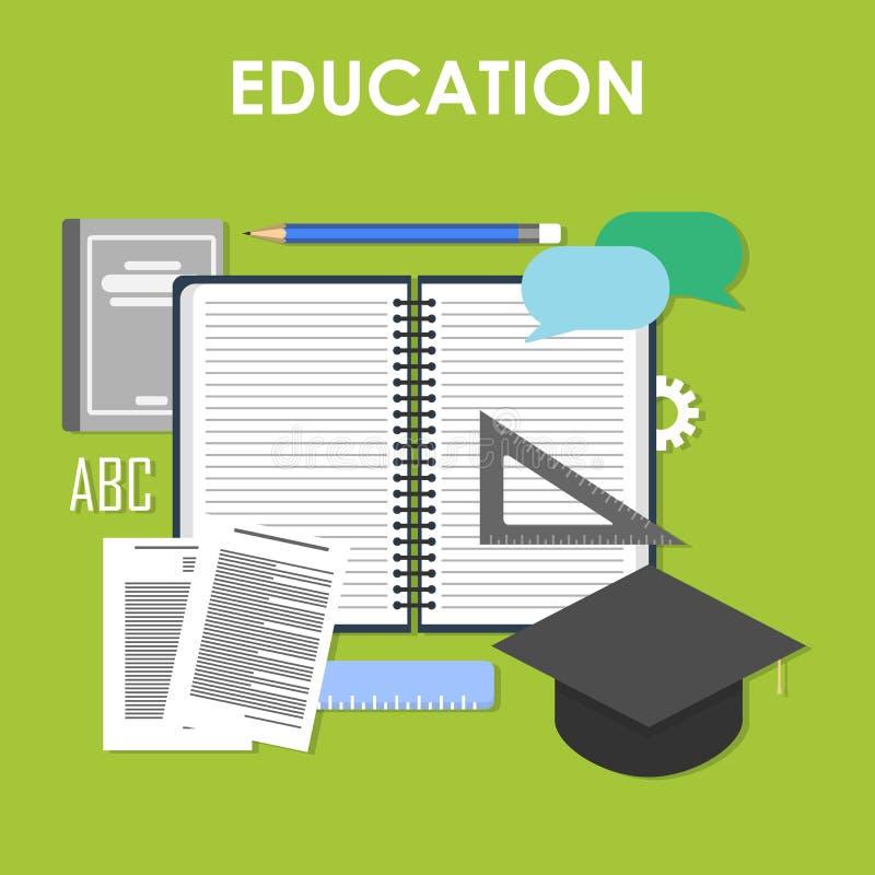 Onderwijs online, professioneel onderwijs royalty-vrije illustratie