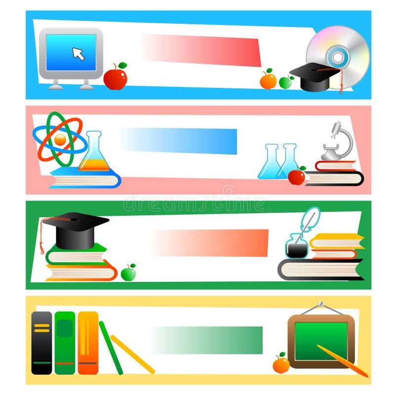 Onderwijs - reeks banners stock illustratie