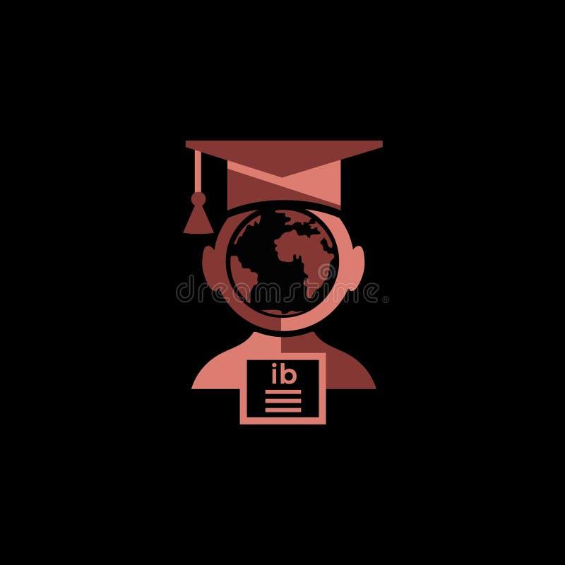 Onderwijs universitair GLB vectorembleem royalty-vrije illustratie