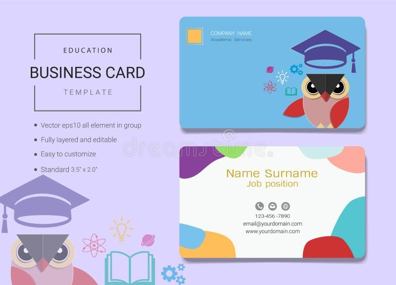 Onderwijsadreskaartje of van de naamkaart malplaatje royalty-vrije illustratie