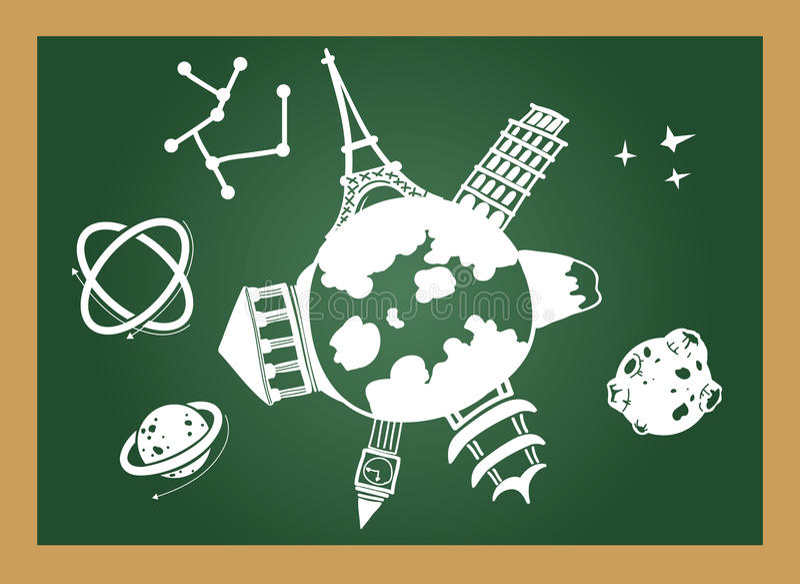 Onderwijsbord vector illustratie