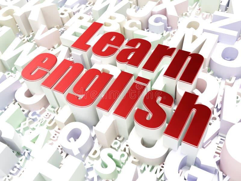 Onderwijsconcept: Leer het Engels op alfabet royalty-vrije illustratie