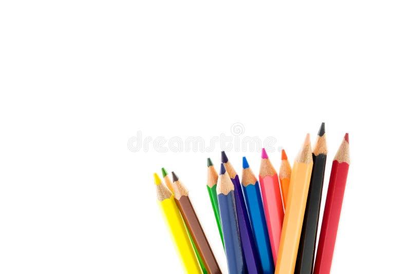 Onderwijsconcept, Potlood op witte achtergrond stock afbeeldingen
