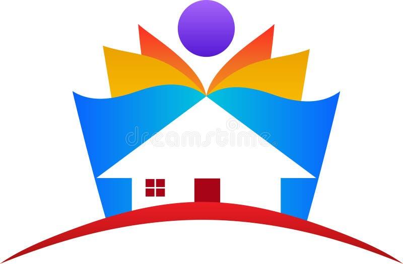 Onderwijshuis royalty-vrije illustratie