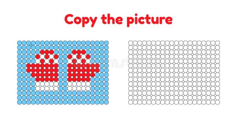 Onderwijsspel voor aandacht voor kinderen van kleuterschool en stock illustratie