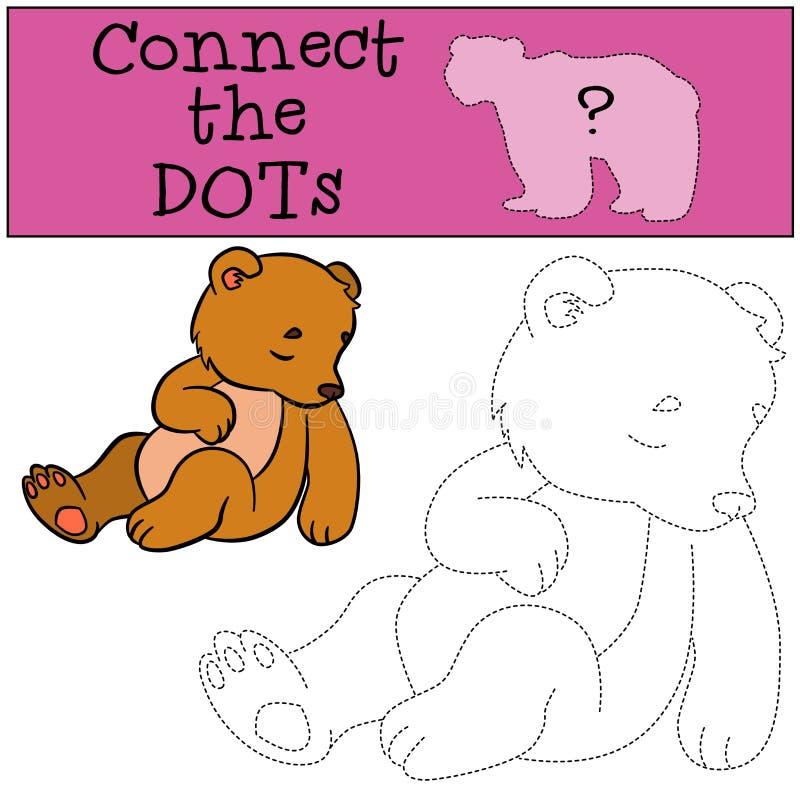 Onderwijsspelen voor jonge geitjes: Verbind de punten royalty-vrije illustratie