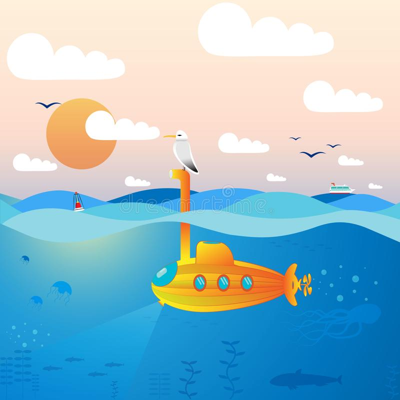 onderzeeër royalty-vrije illustratie