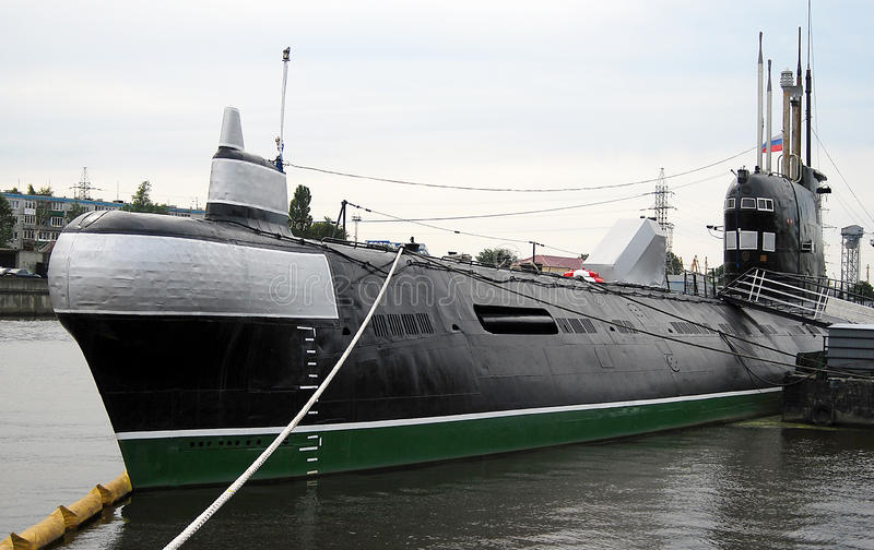 Onderzeeër B-413 in Kaliningrad, Rusland. royalty-vrije stock fotografie
