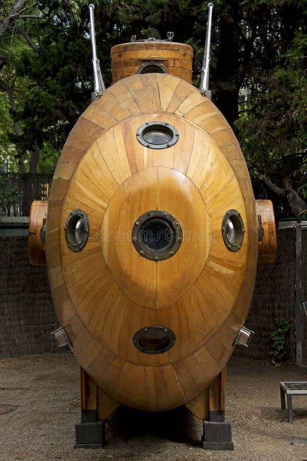 Onderzeeër bij het Maritieme Museum - Barcelona stock afbeelding