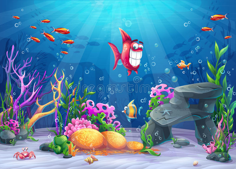 Onderzees met grappige vissen
