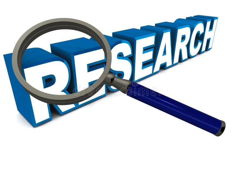 Onderzoek vector illustratie