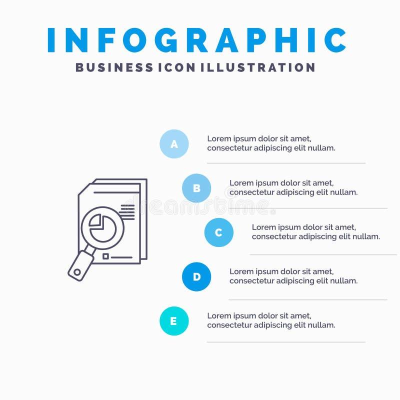 Onderzoek, Analyse, Analitisch, Analytics, Grafiek, Gegevens, het pictogram van de Grafieklijn met infographicsachtergrond van de vector illustratie