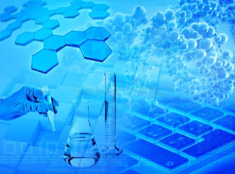 Onderzoek en analyse abstracte achtergrond stock illustratie