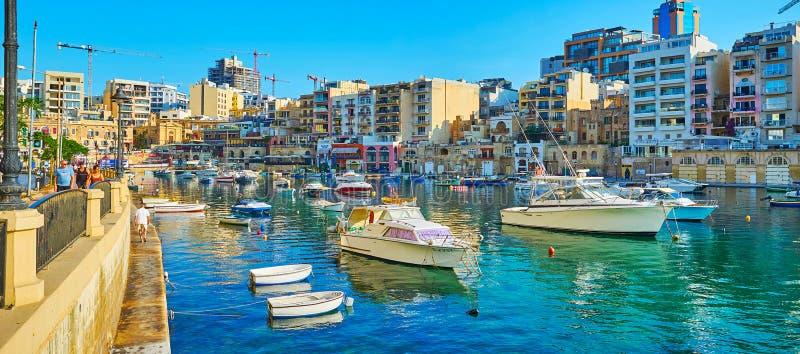 Onderzoek Julian St, Malta royalty-vrije stock afbeelding