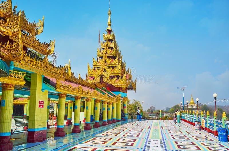 Onderzoek spoedig Oo Ponya Shin Paya in Sagaing royalty-vrije stock afbeeldingen