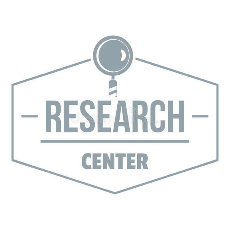 Onderzoekscentrumembleem, eenvoudige grijze stijl royalty-vrije illustratie