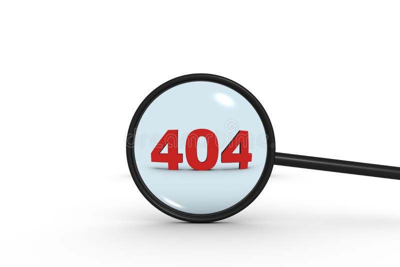 Onderzoeksfout 404 vector illustratie
