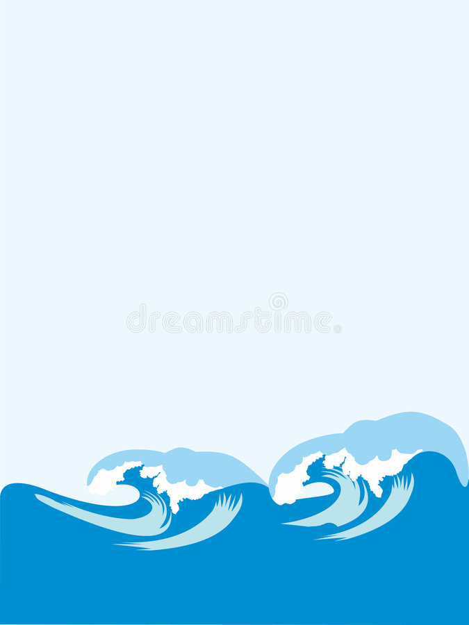 ondes illustration stock