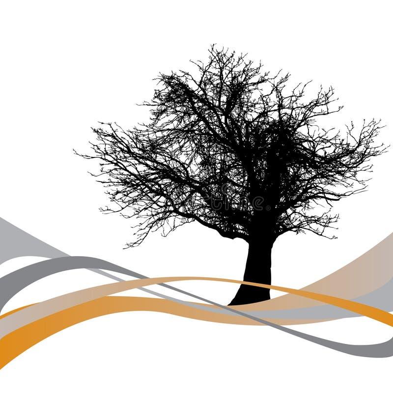 ondes abstraites d'arbre illustration libre de droits