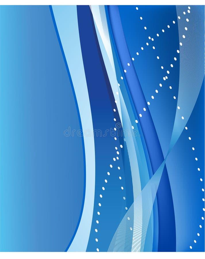 ondes abstraites de bleu de fond illustration de vecteur