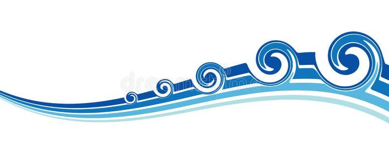 ondes bleues illustration libre de droits