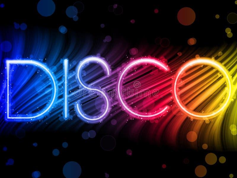 Ondes colorées abstraites de disco illustration libre de droits